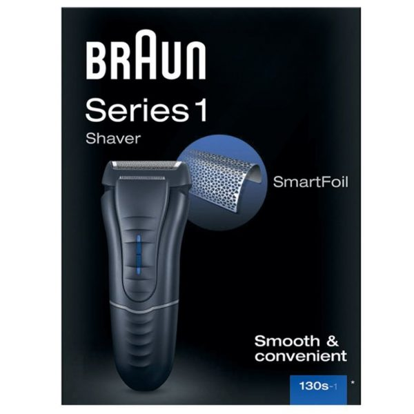 Braun Series 1 130s 1 Mens Electric Shaver Smartfoil Washable Mains Powered